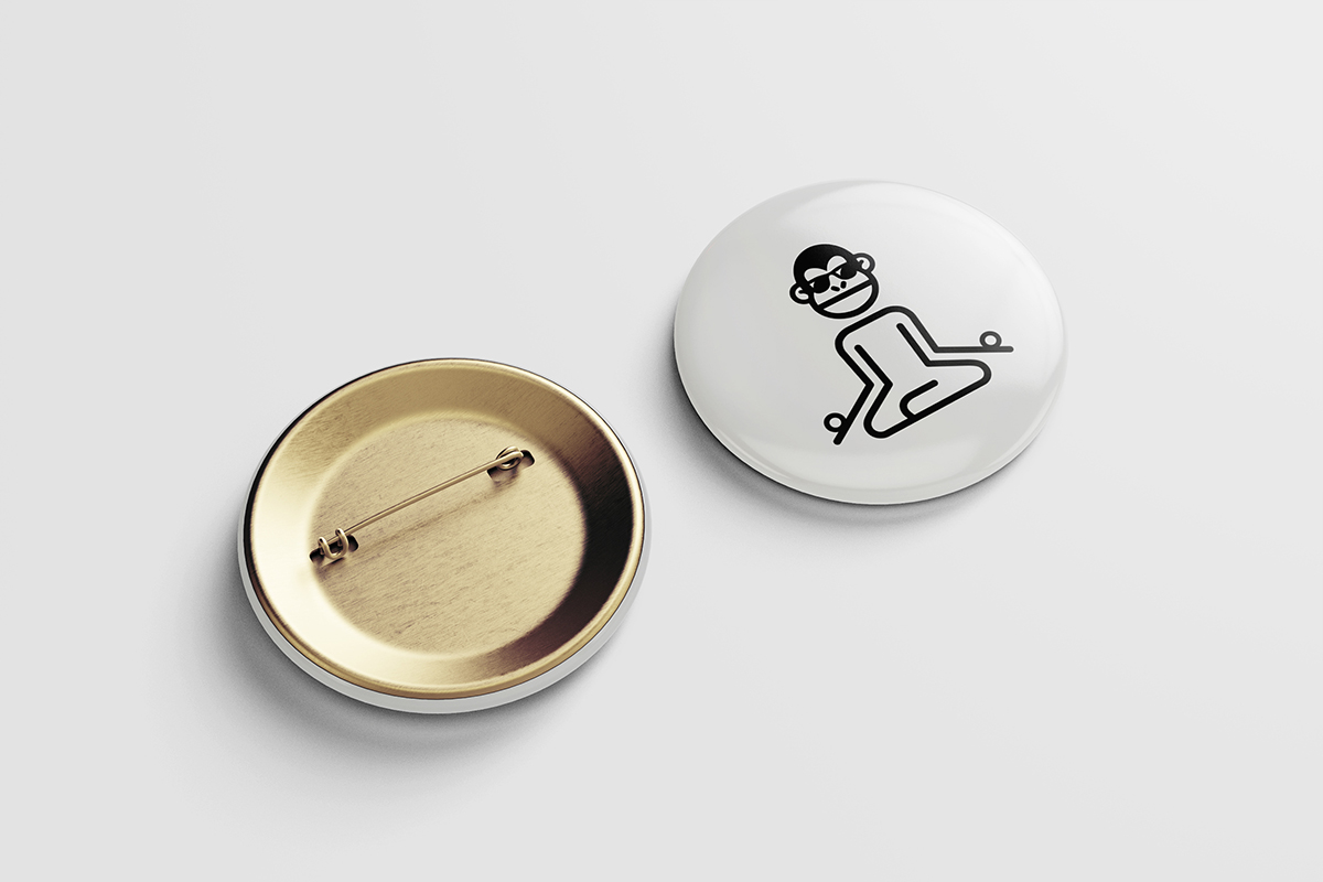 Branding the NOW Monkey Pin
